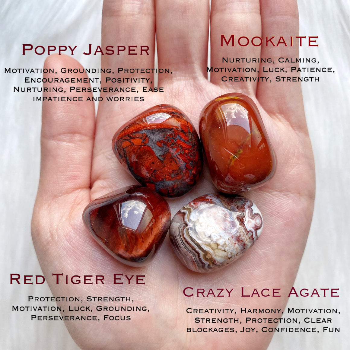 Root Chakra Energy Crystal Bag
