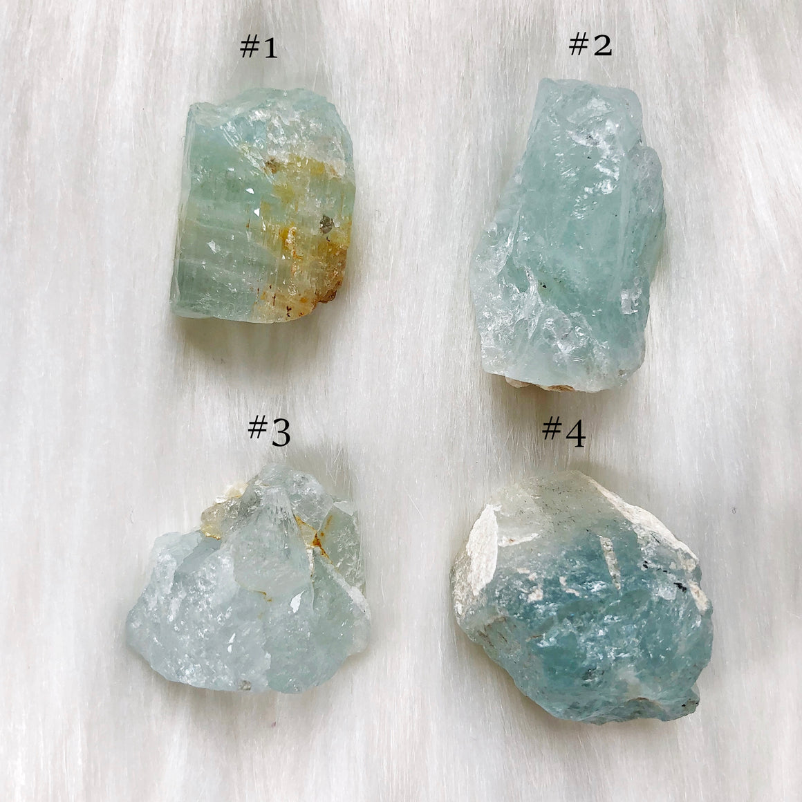 Raw Aquamarine Clusters