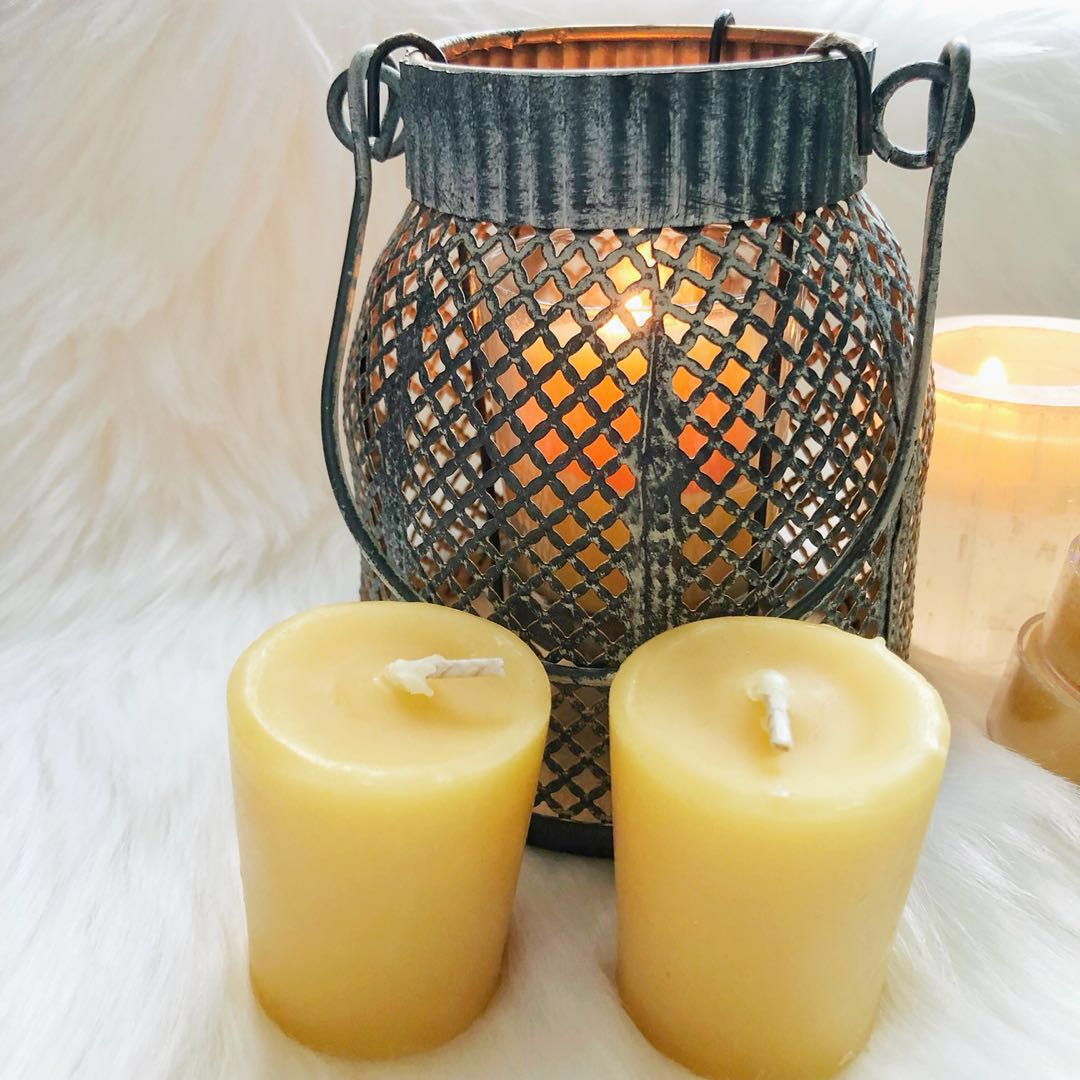 100% Natural Beeswax Votive Candles