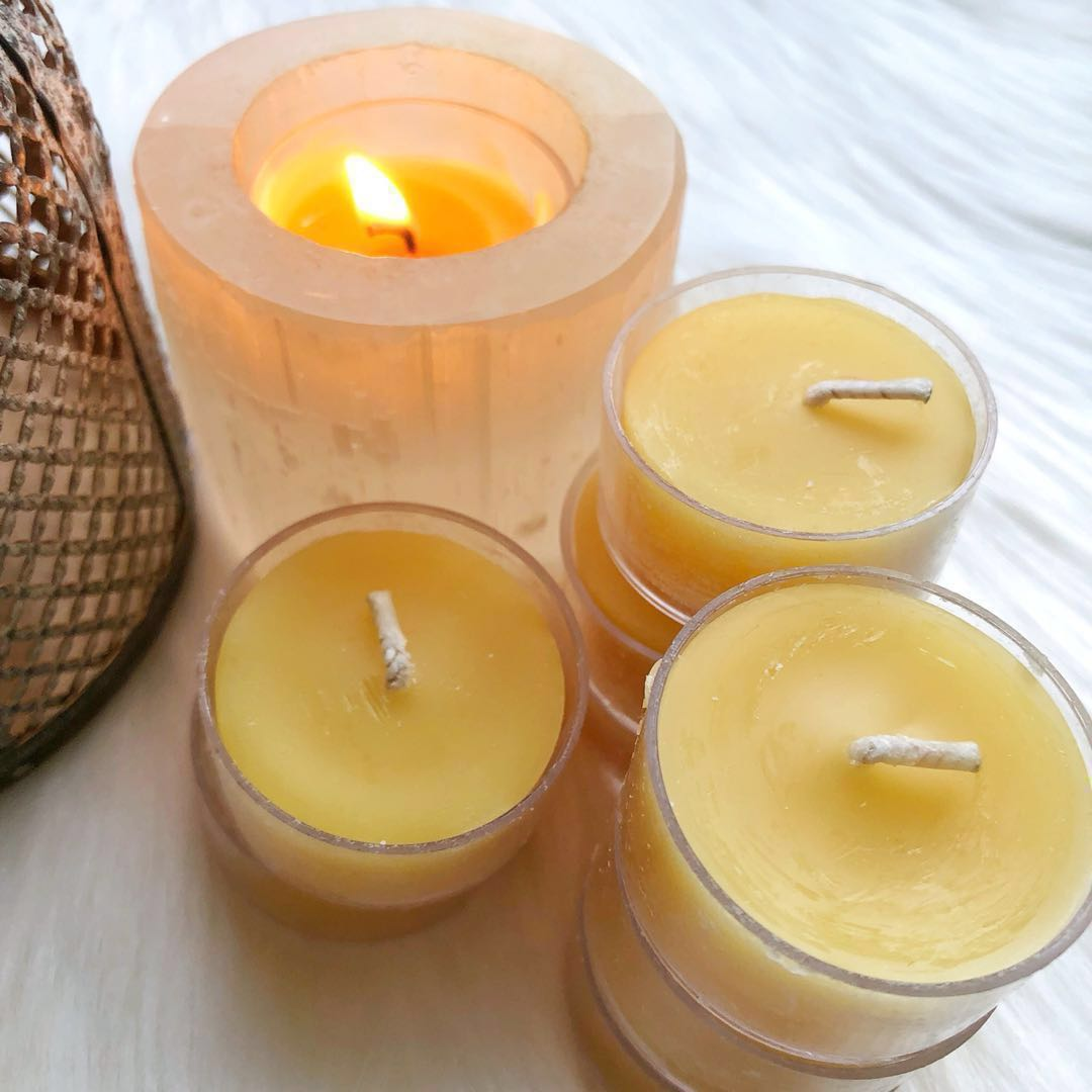 100% Natural Beeswax Tealight Candles
