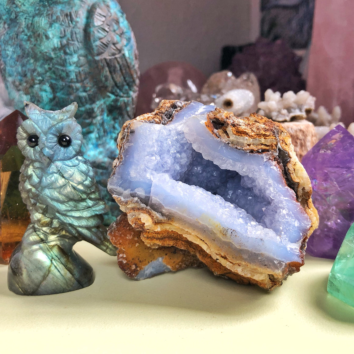 Blue Lace Chalcedony Agate Geode #1