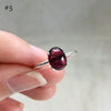Red Garnet Silver Rings (Prong setting)