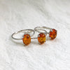 Baltic Cognac Amber Silver Rings (Prong setting)