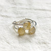Golden Rutilated Silver Rings (Prong setting)