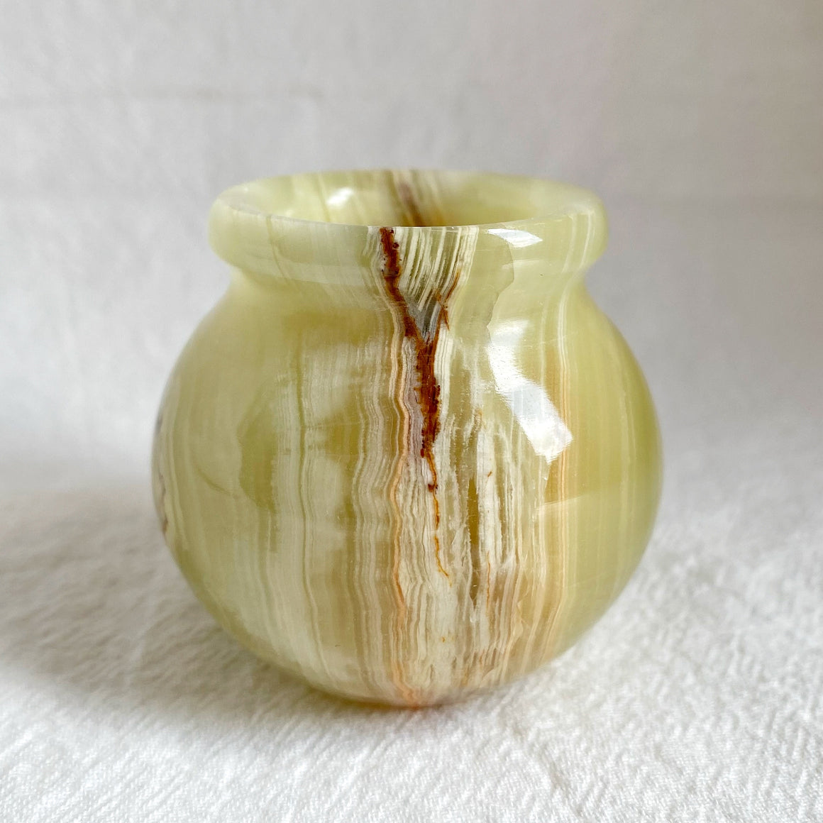 Green Banded Onyx Mini Pot BOP02