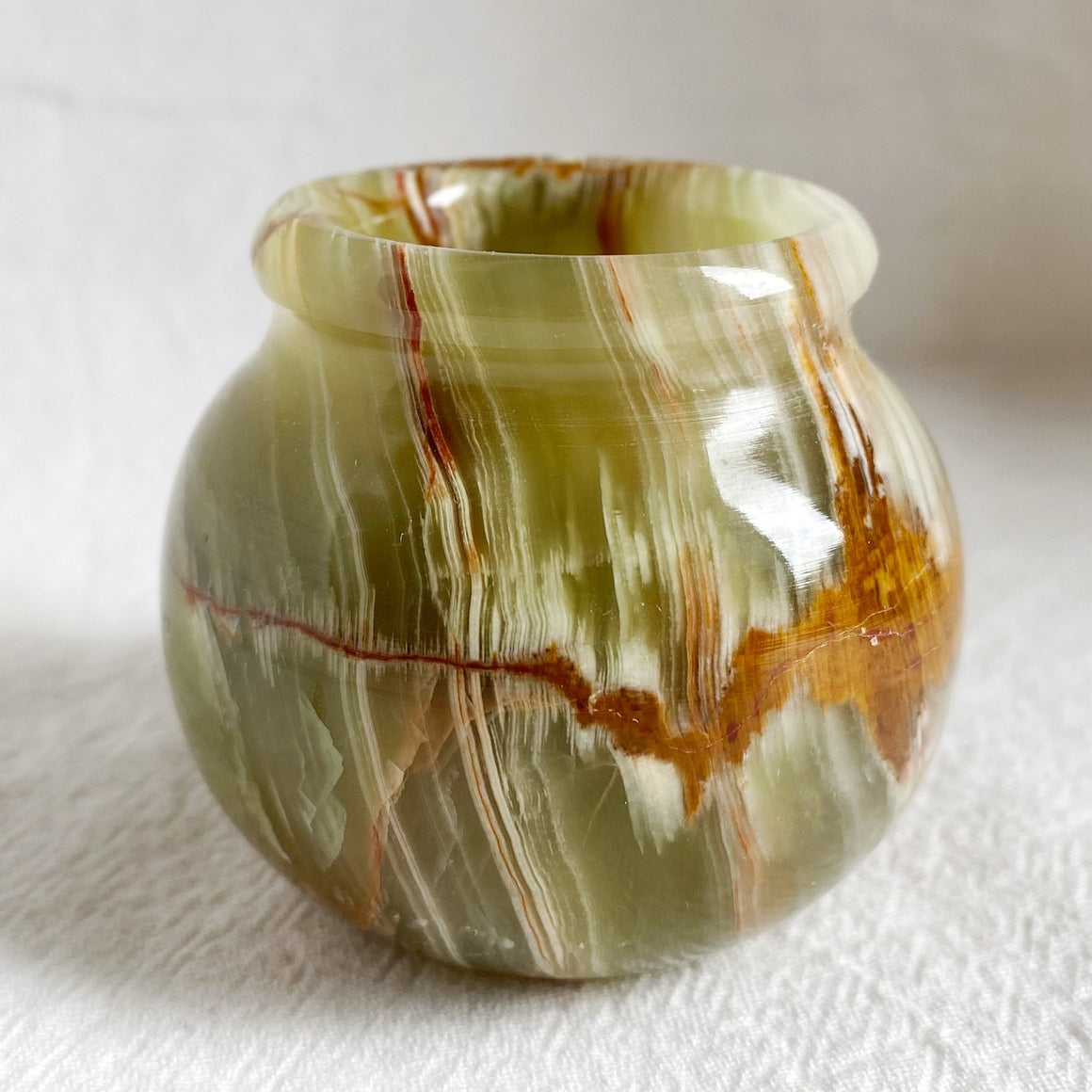 Green Banded Onyx Mini Pot BOP07