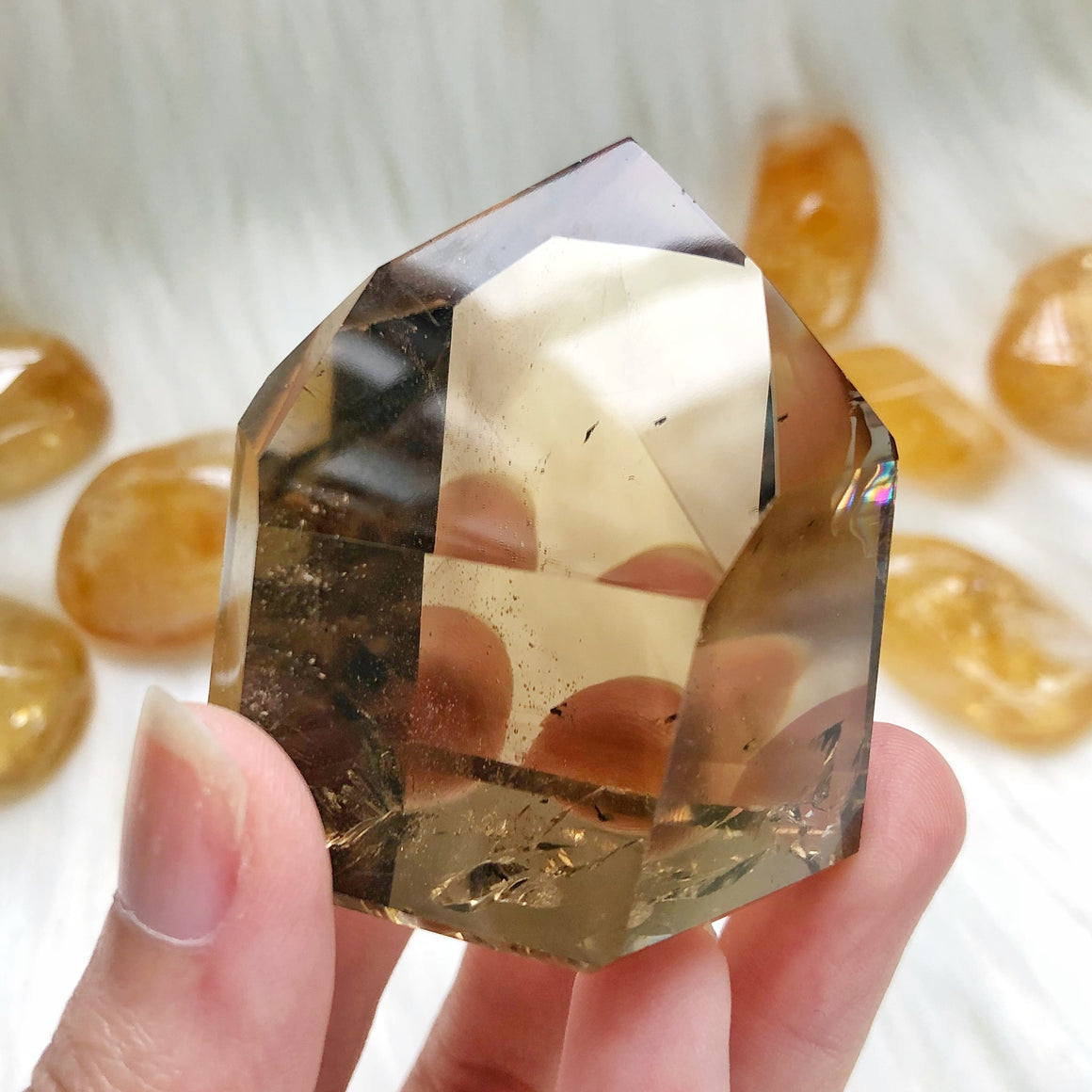 Natural Citrine Polished Point #3