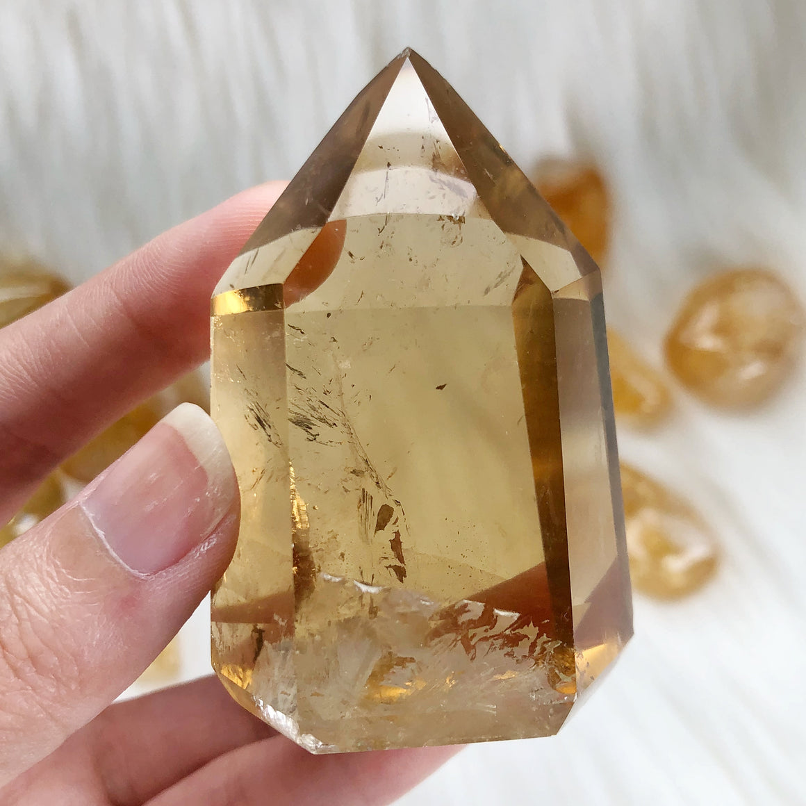 Natural Citrine Polished Point #5