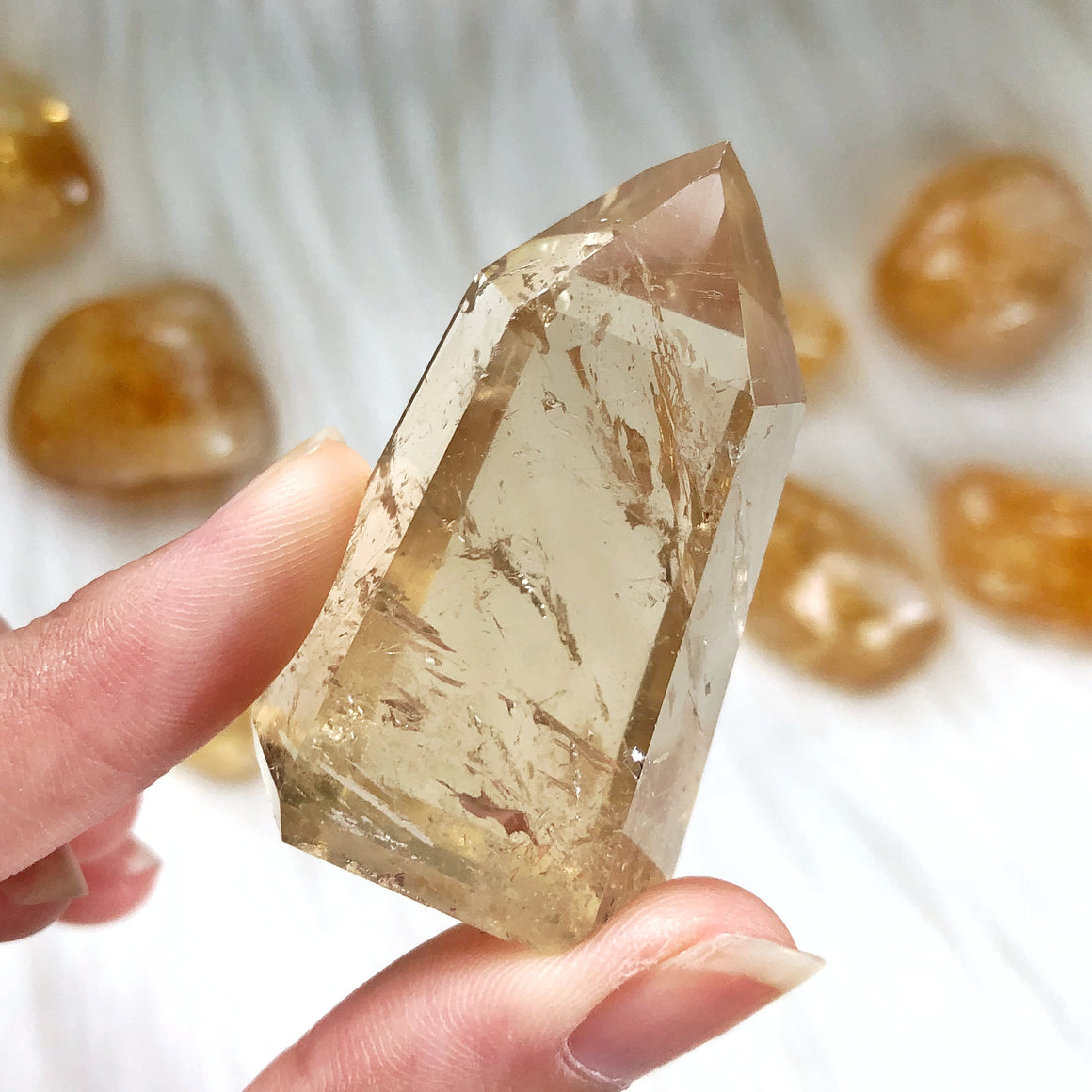 Natural Citrine Polished Point #6
