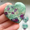 Ruby in Fuchsite Hearts