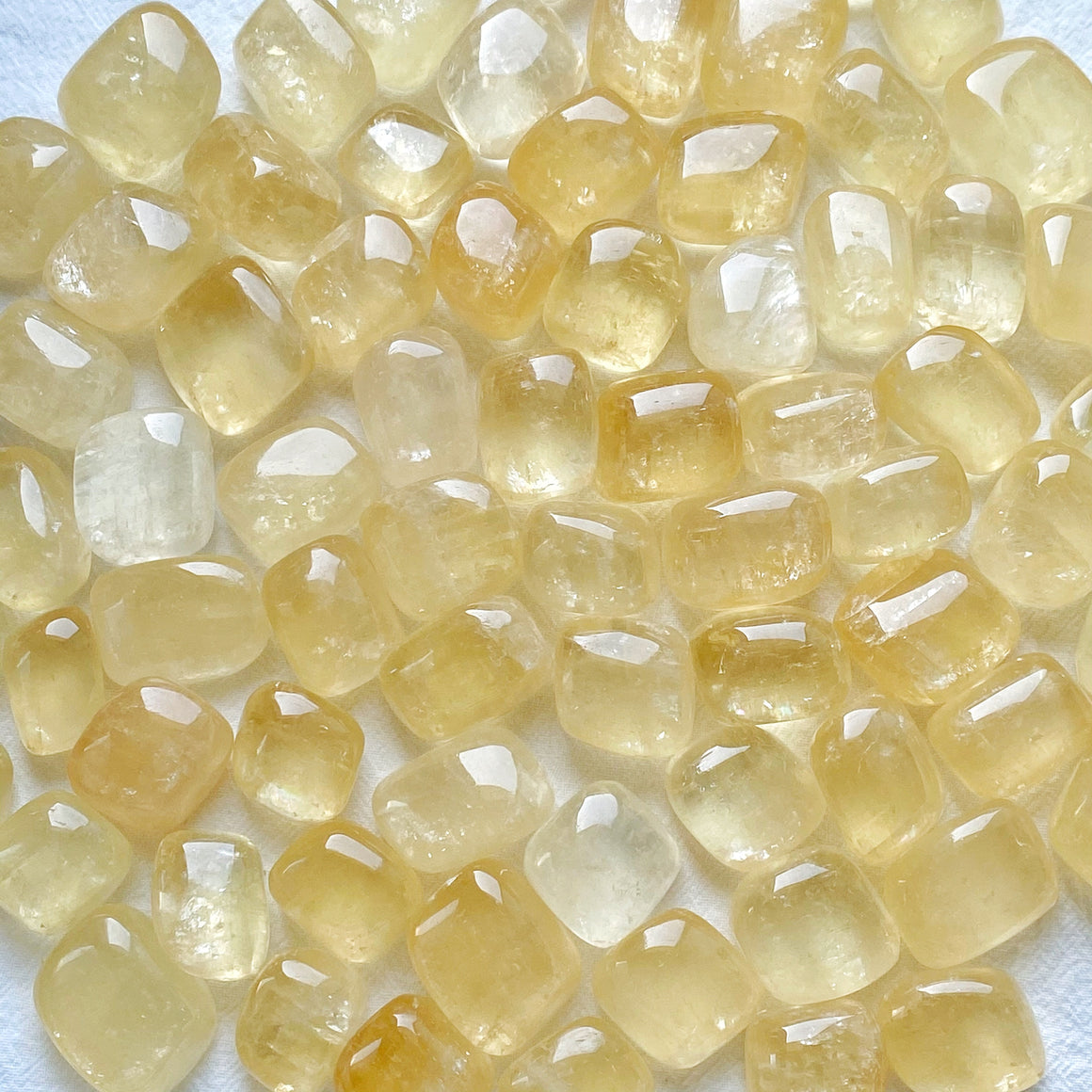 Yellow Calcite Tumbled Stones