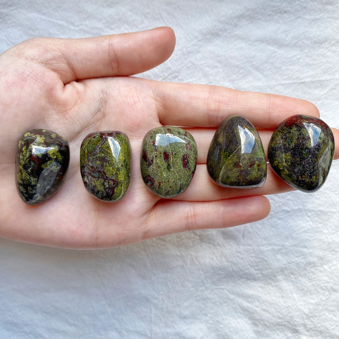Dragon Blood Jasper Tumbled Stones