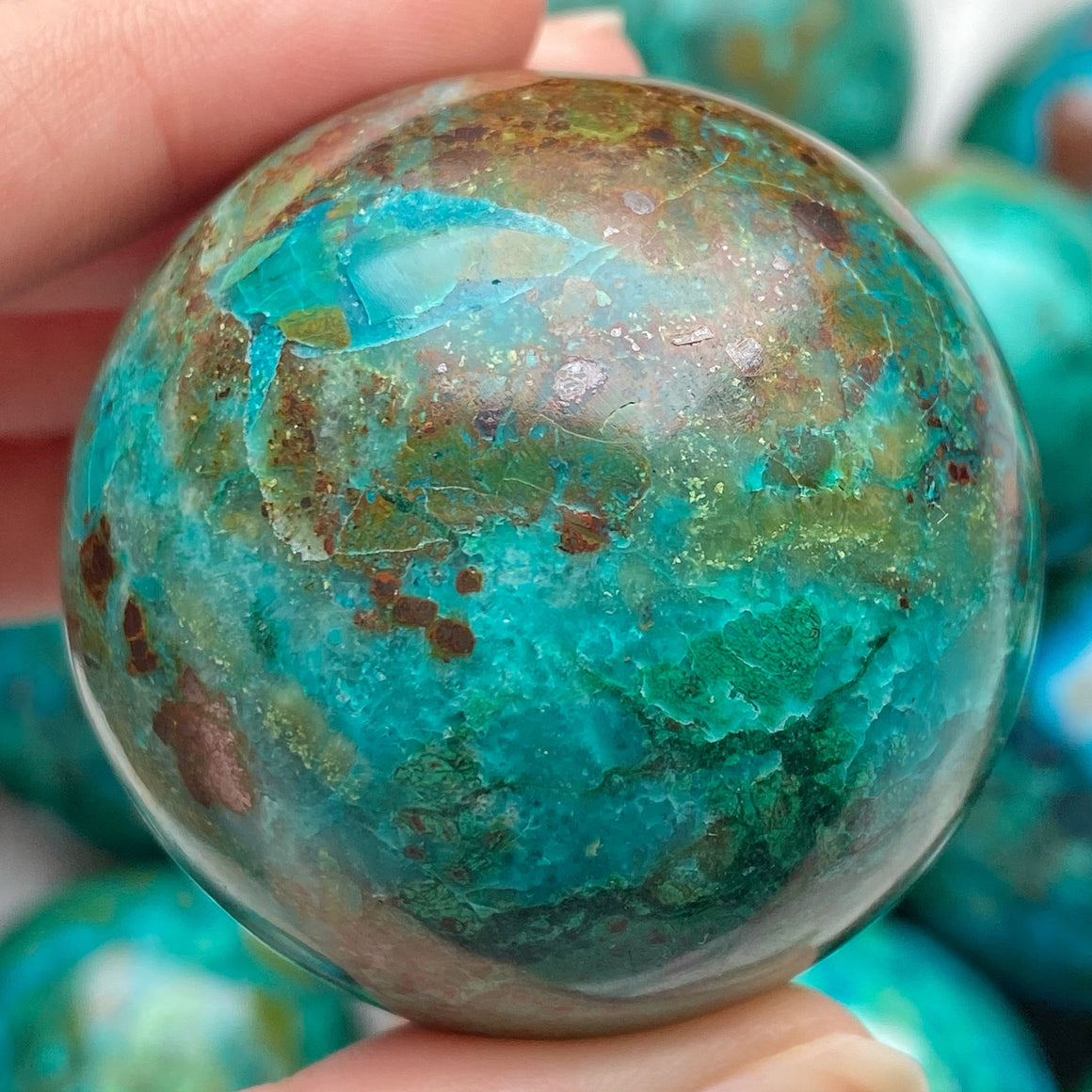 Chrysocolla Polished Sphere CHR12