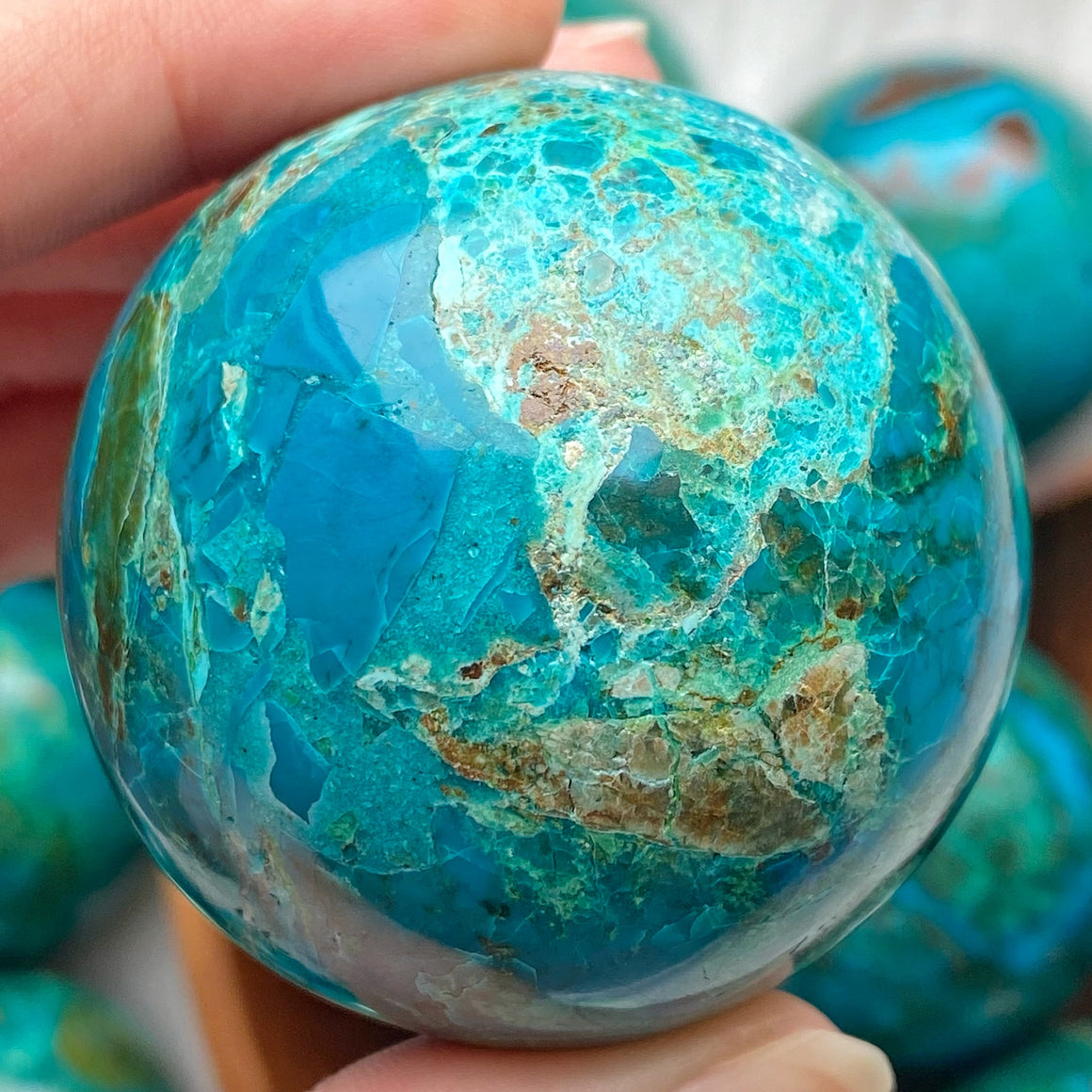 Chrysocolla Polished Sphere CHR14