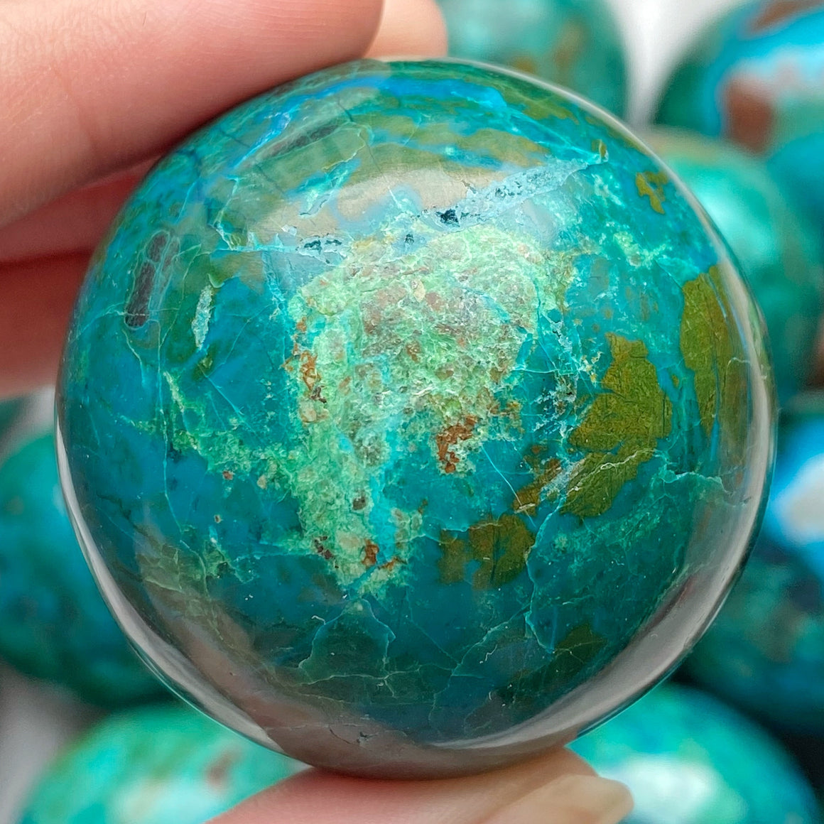 Chrysocolla Polished Sphere CHR16