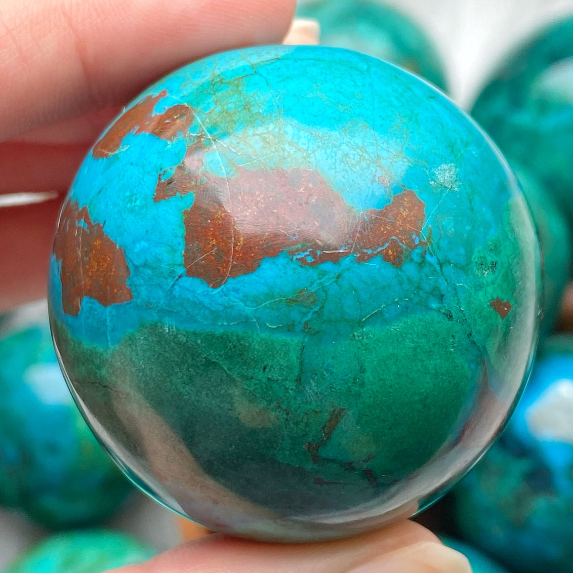 Chrysocolla Polished Sphere CHR17