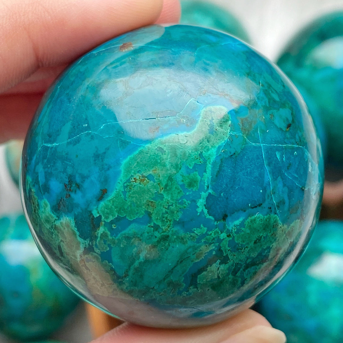 Chrysocolla Polished Sphere CHR18