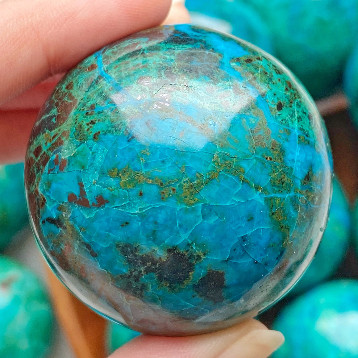Chrysocolla Polished Sphere CHR19