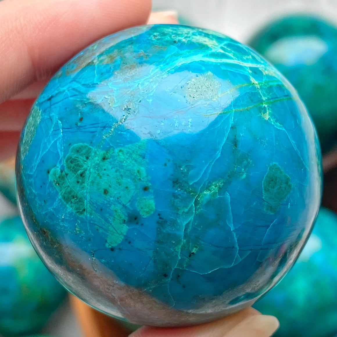 Chrysocolla Polished Sphere CHR20
