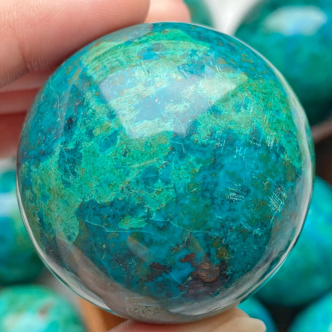 Chrysocolla Polished Sphere CHR21