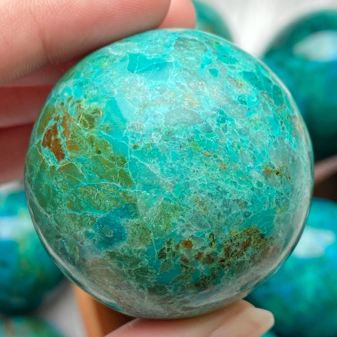 Chrysocolla Polished Sphere CHR23