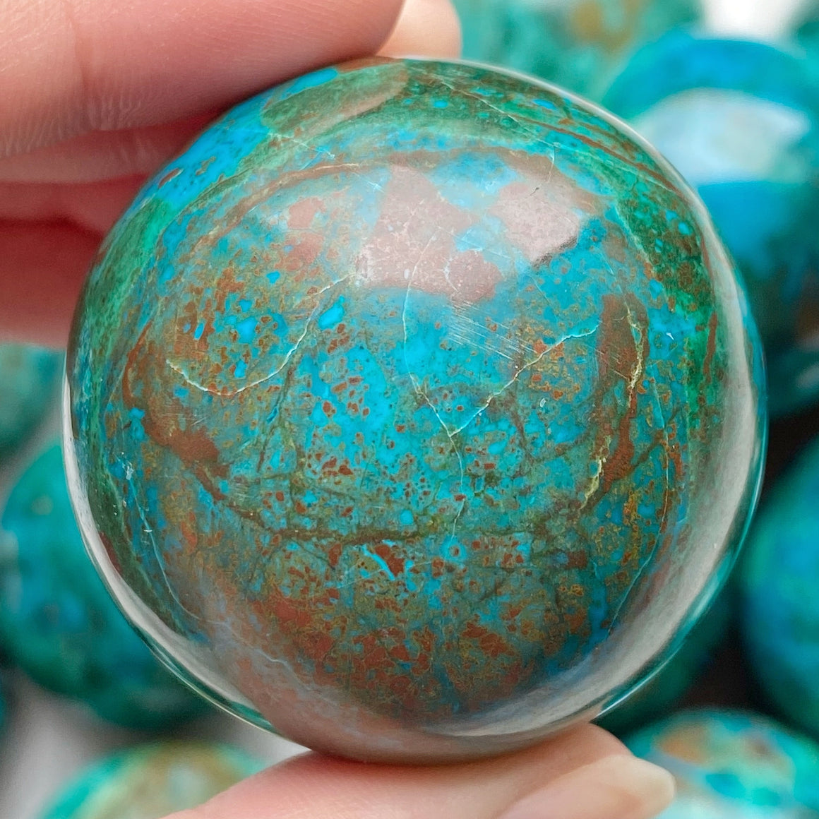 Chrysocolla Polished Sphere CHR24
