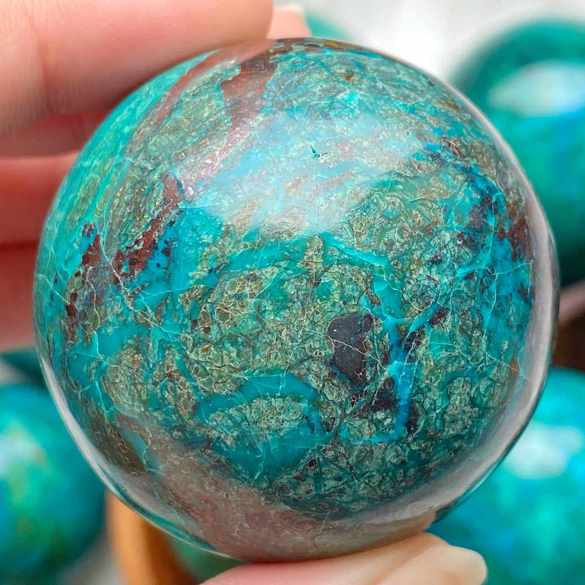 Chrysocolla Polished Sphere CHR25