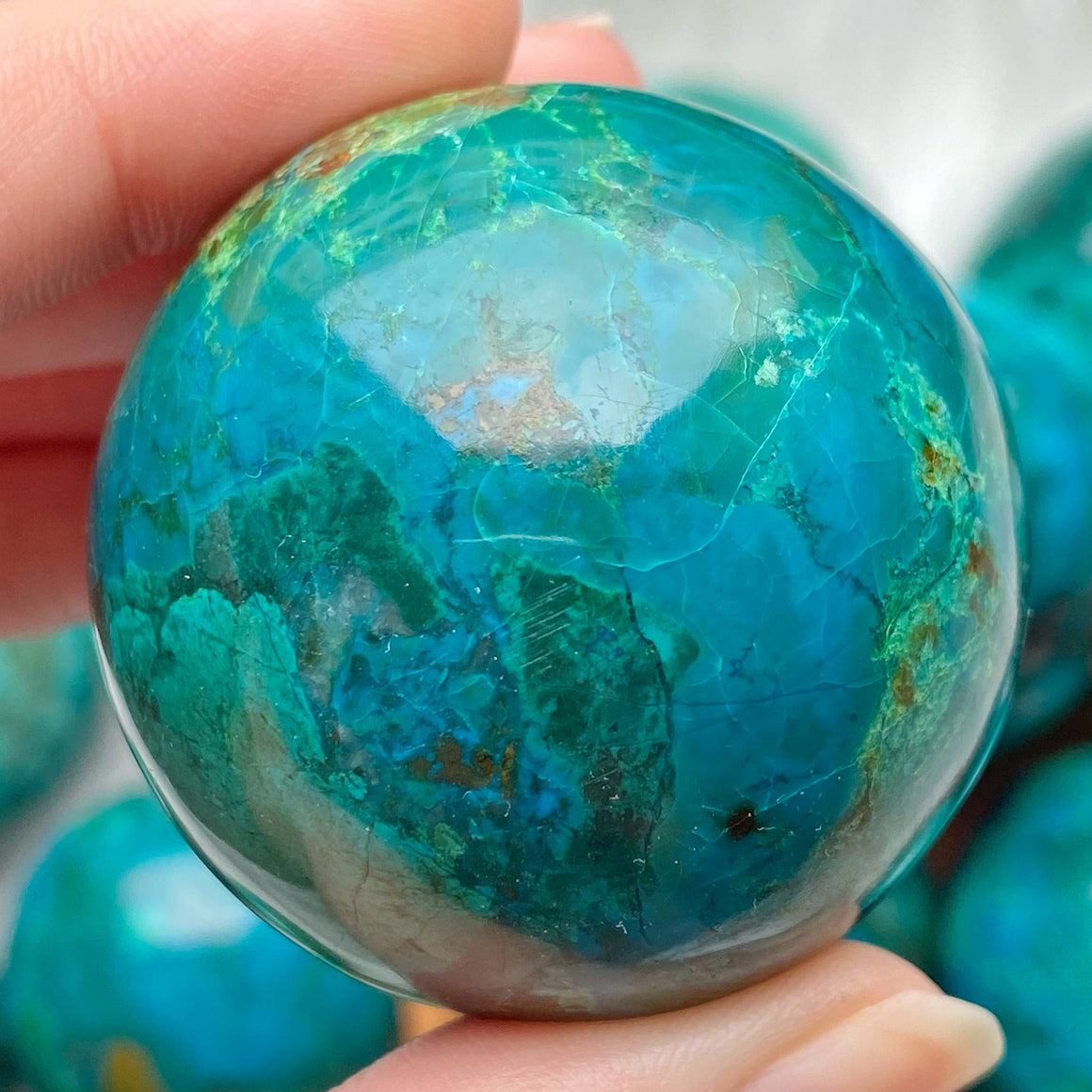 Chrysocolla Polished Sphere CHR27