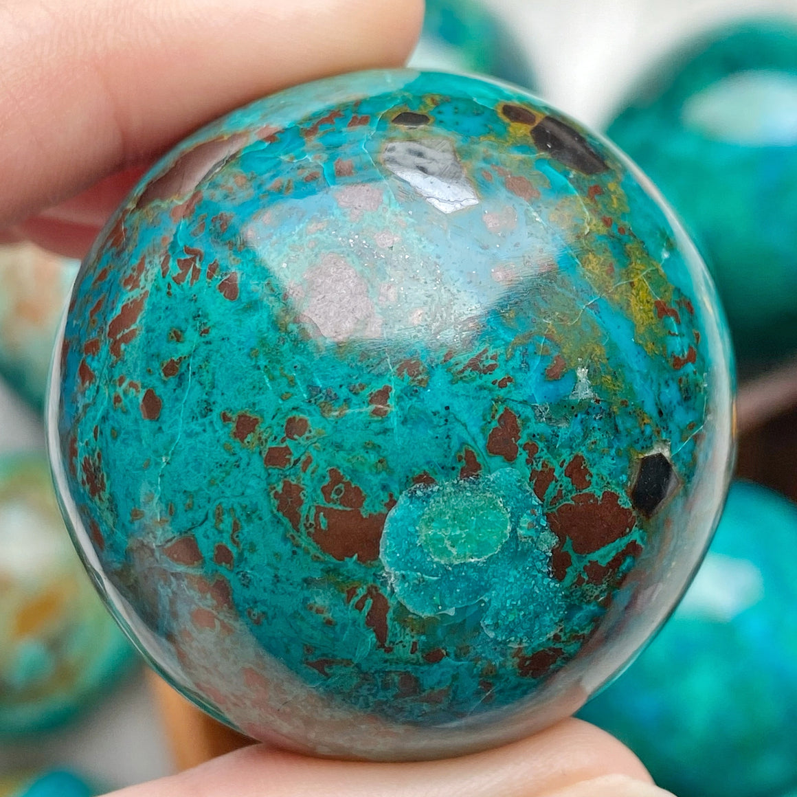 Chrysocolla Polished Sphere CHR29