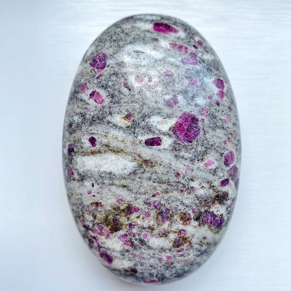 Ruby in Albite Palm Stone RR003
