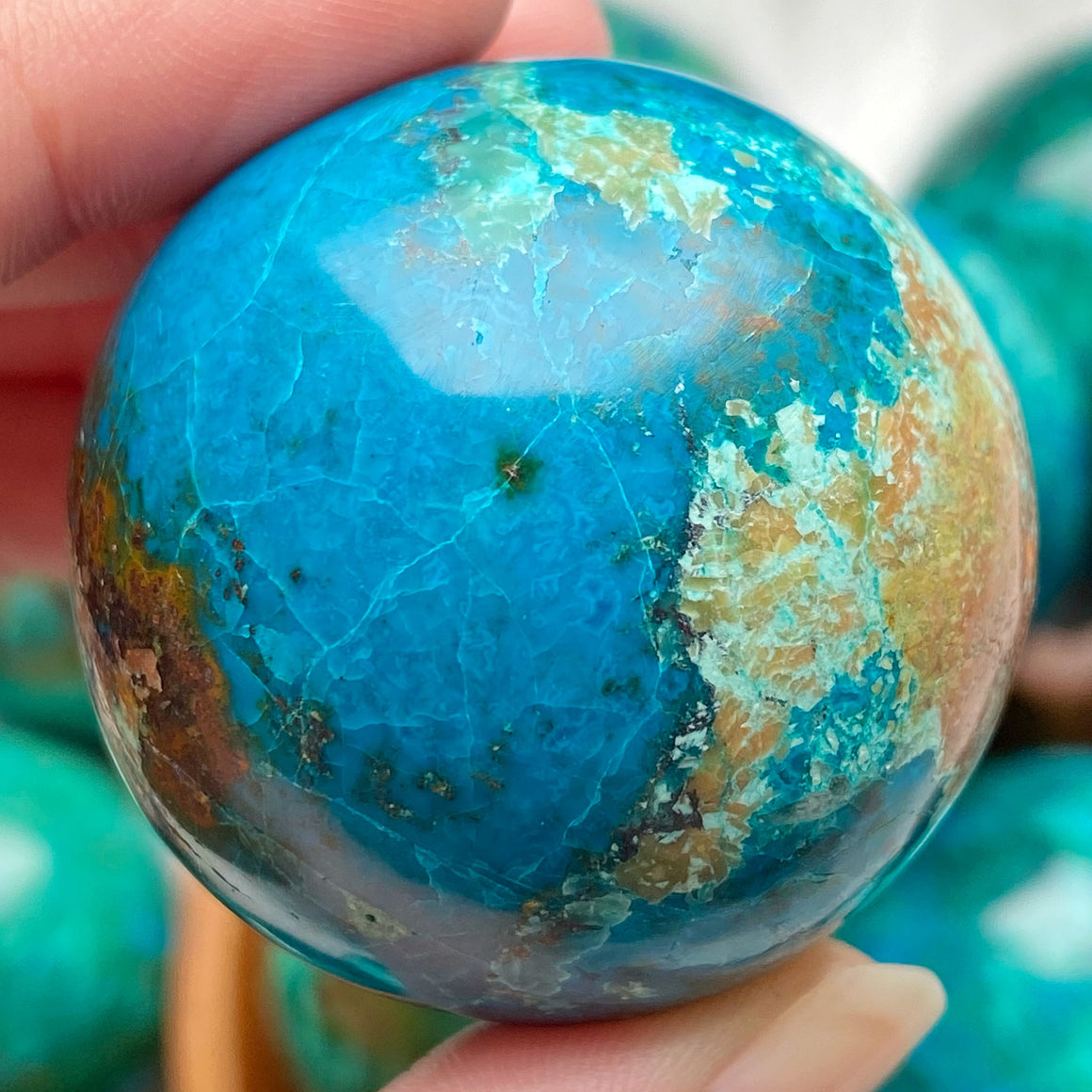 Chrysocolla Polished Sphere CHR36
