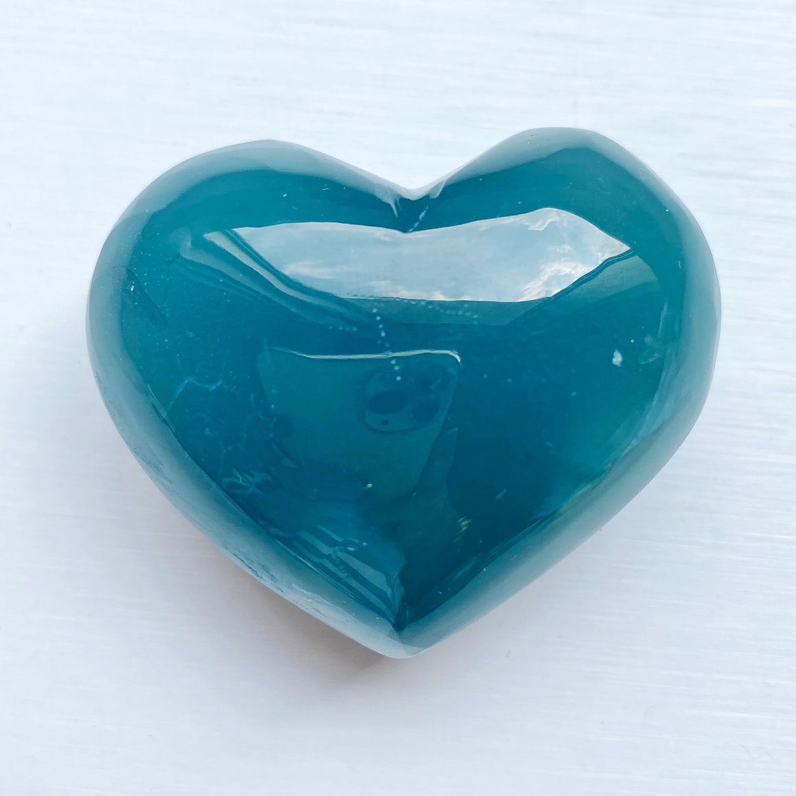 Argetina Blue Calcite Polished Heart BC005