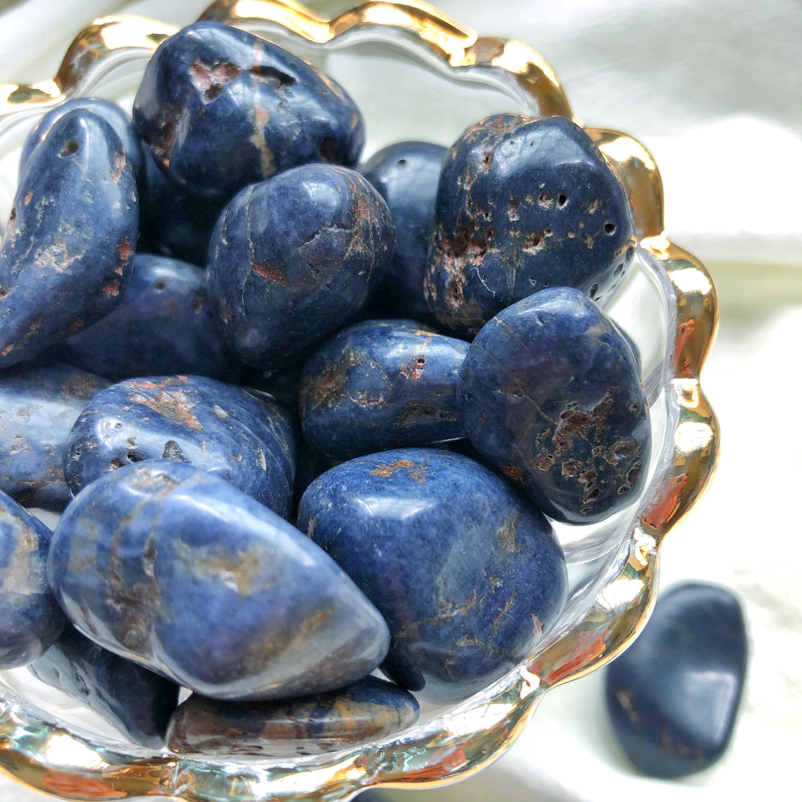 Blue Sapphire Tumbled Stones