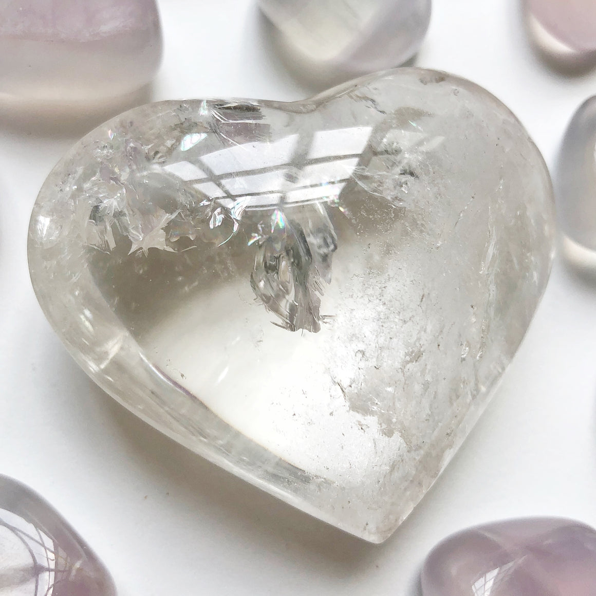 Clear Quartz Polished Heart #1