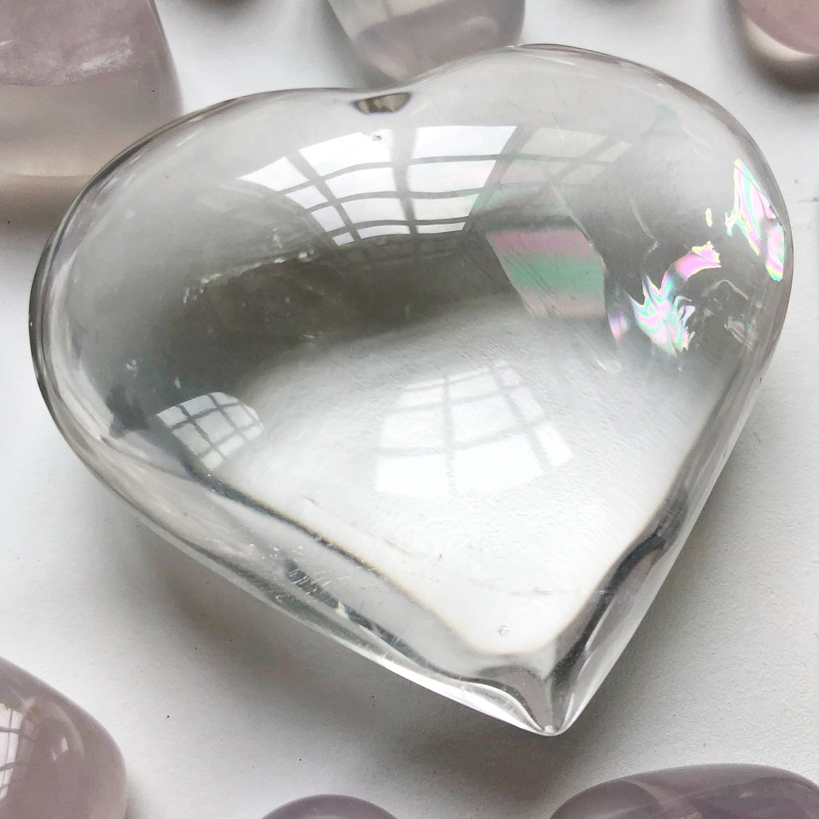 Clear Quartz Polished Heart #3