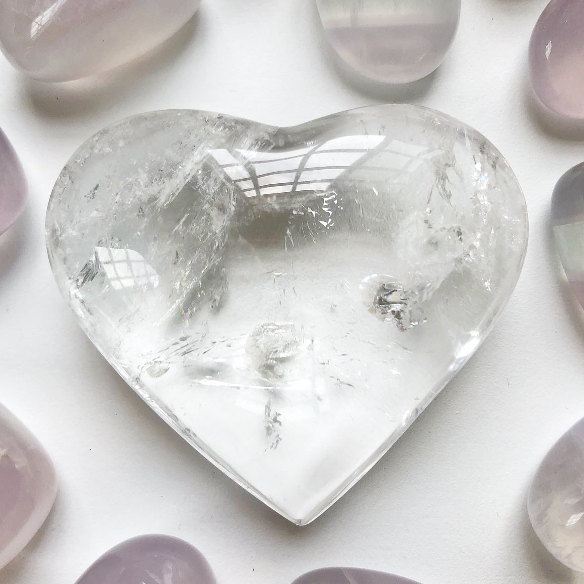 Clear Quartz Polished Heart #4