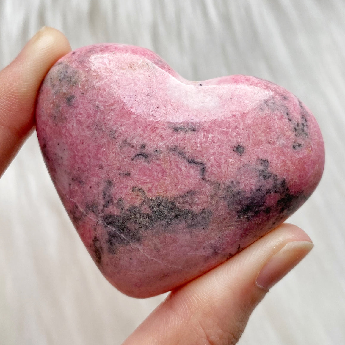 Rhodonite Polished Heart #3
