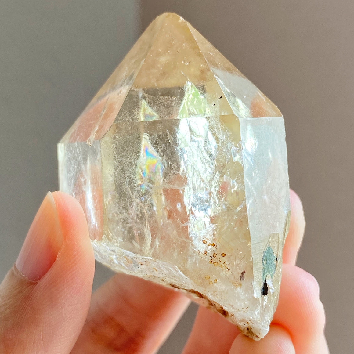 Natural Congo Citrine Point #B32