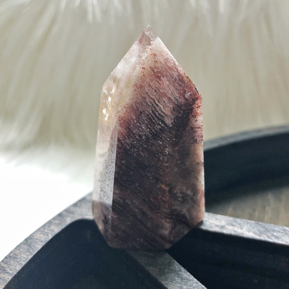 Red Phantom Quartz Point
