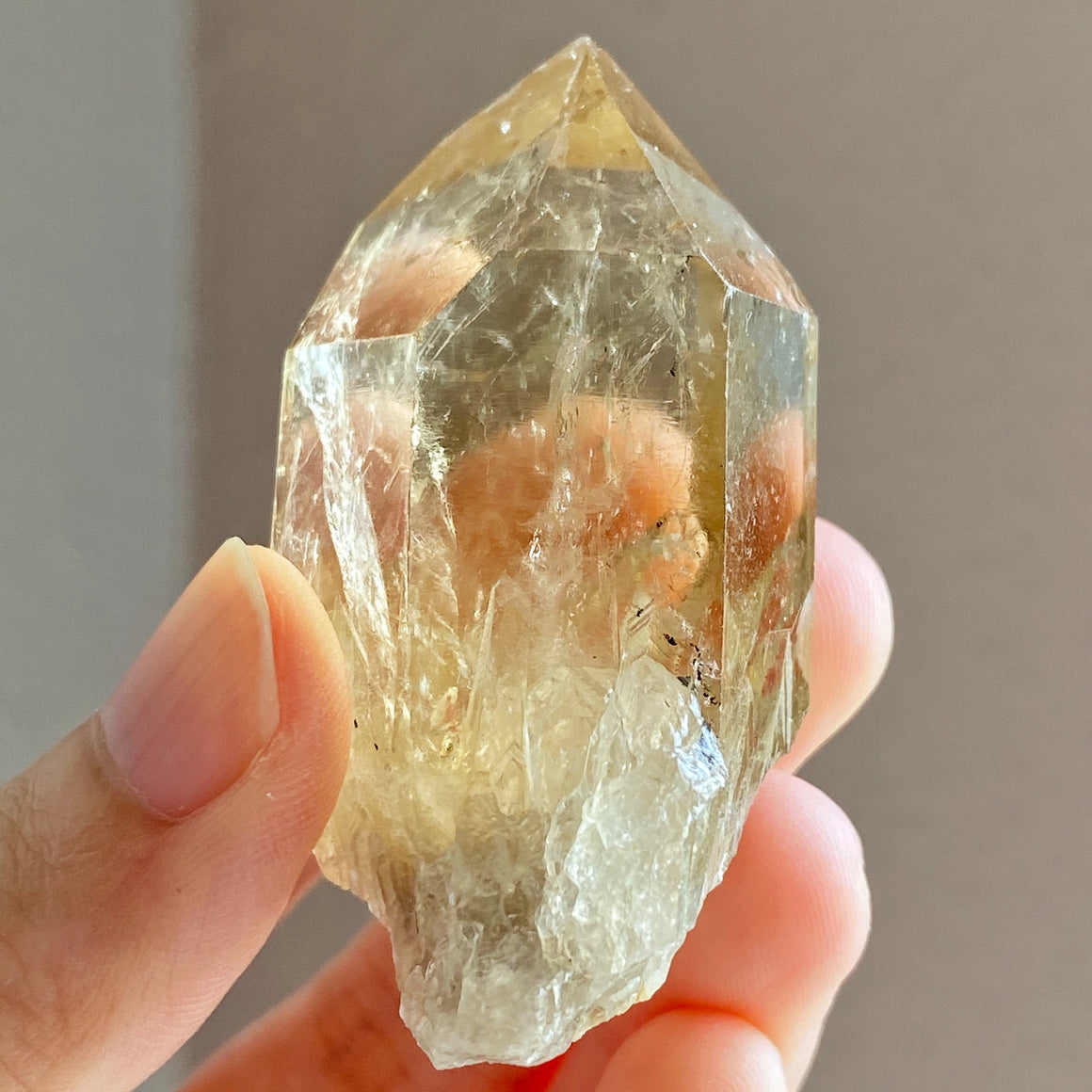 Natural Congo Citrine Point #B41