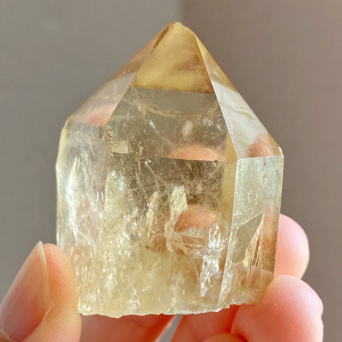 Natural Congo Citrine Point #B52