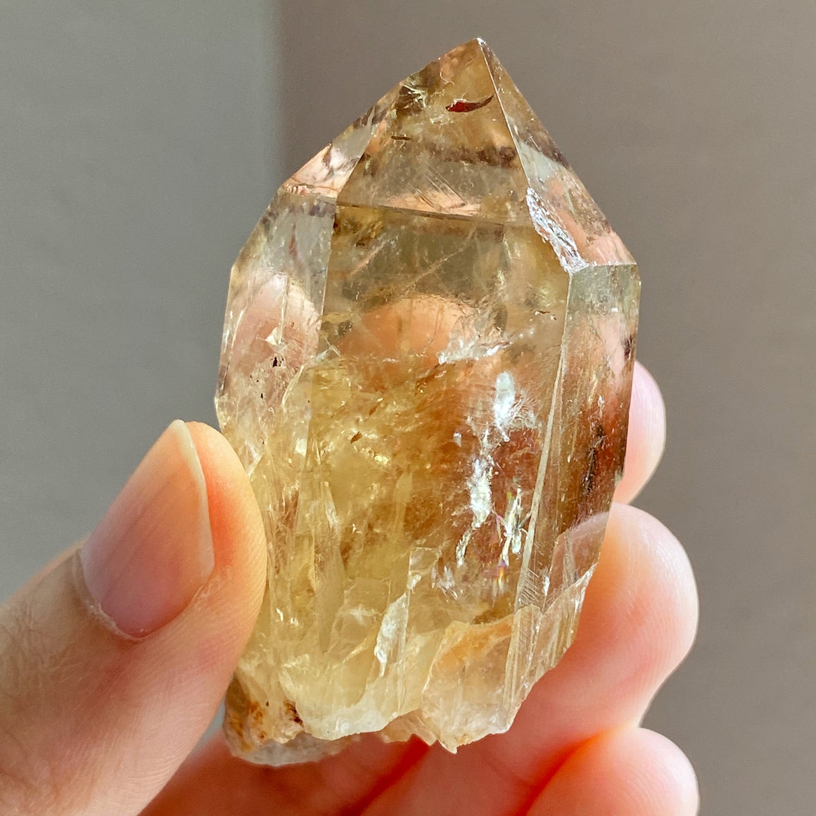 Natural Congo Citrine Point #B59