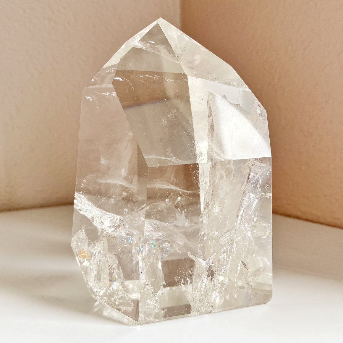 Clear Quartz Large Polished Point #A4