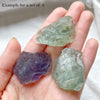 Raw Fluorite Chunks (sold in a set)