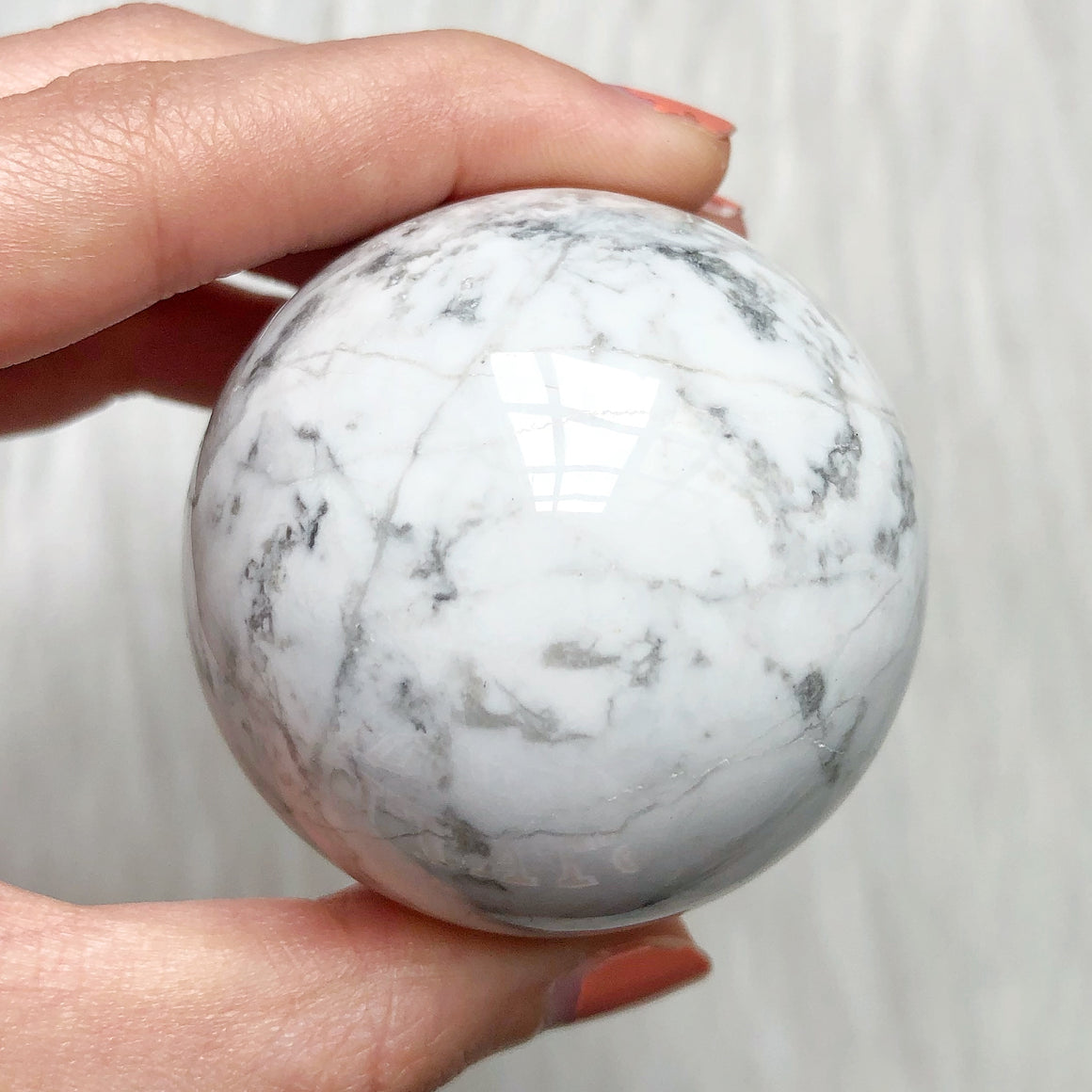 White Howlite Polished Sphere #3