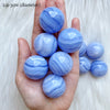 Blue Lace Agate Polished Spheres (2.3cm-3cm)