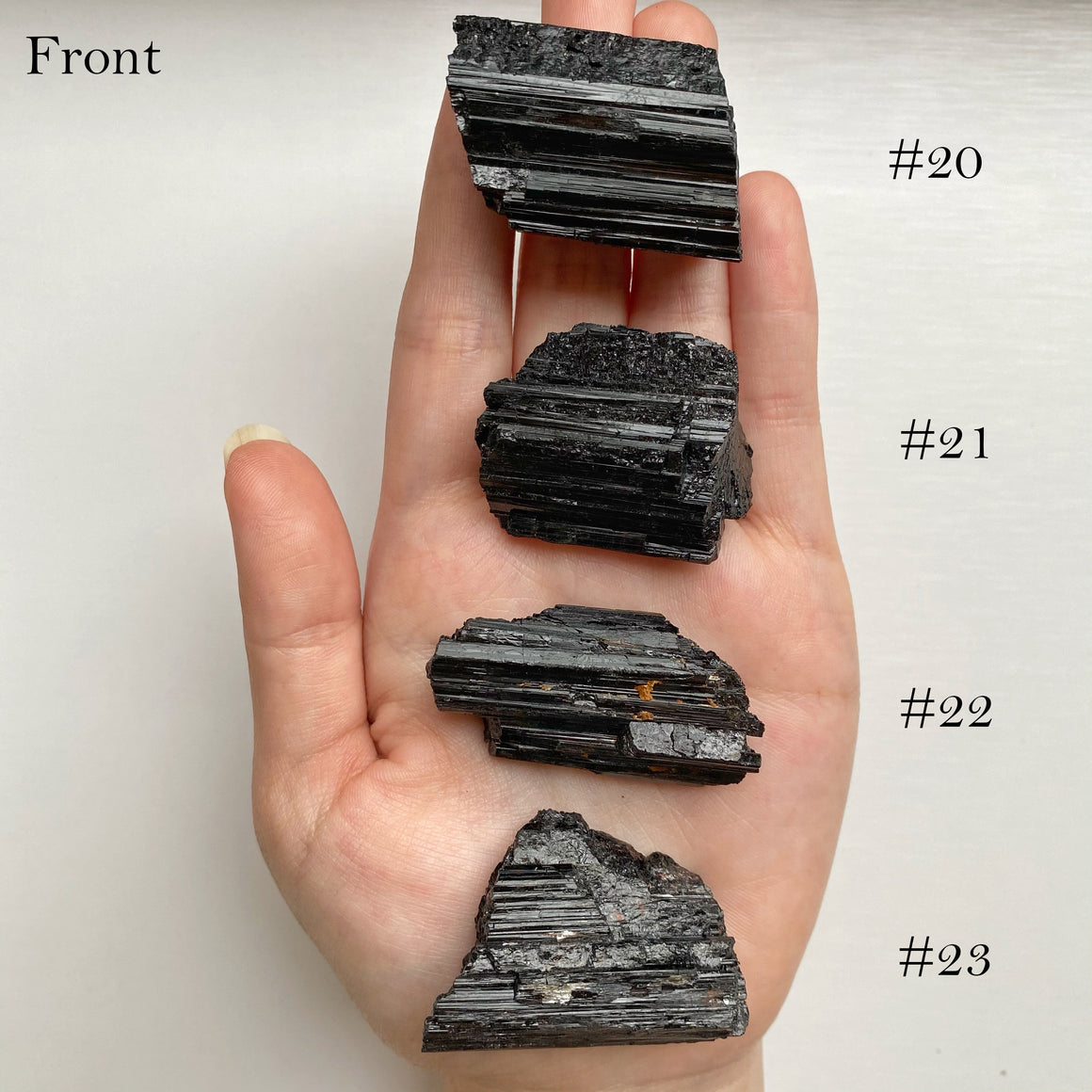 Black Tourmaline Raw Log / Chunk (#20-36)