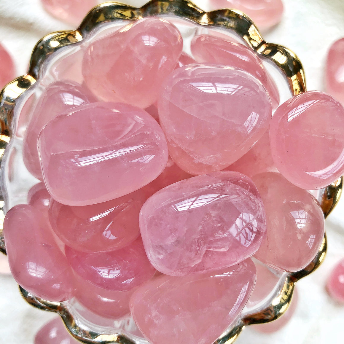 Rose Quartz XQ Tumbled Stones