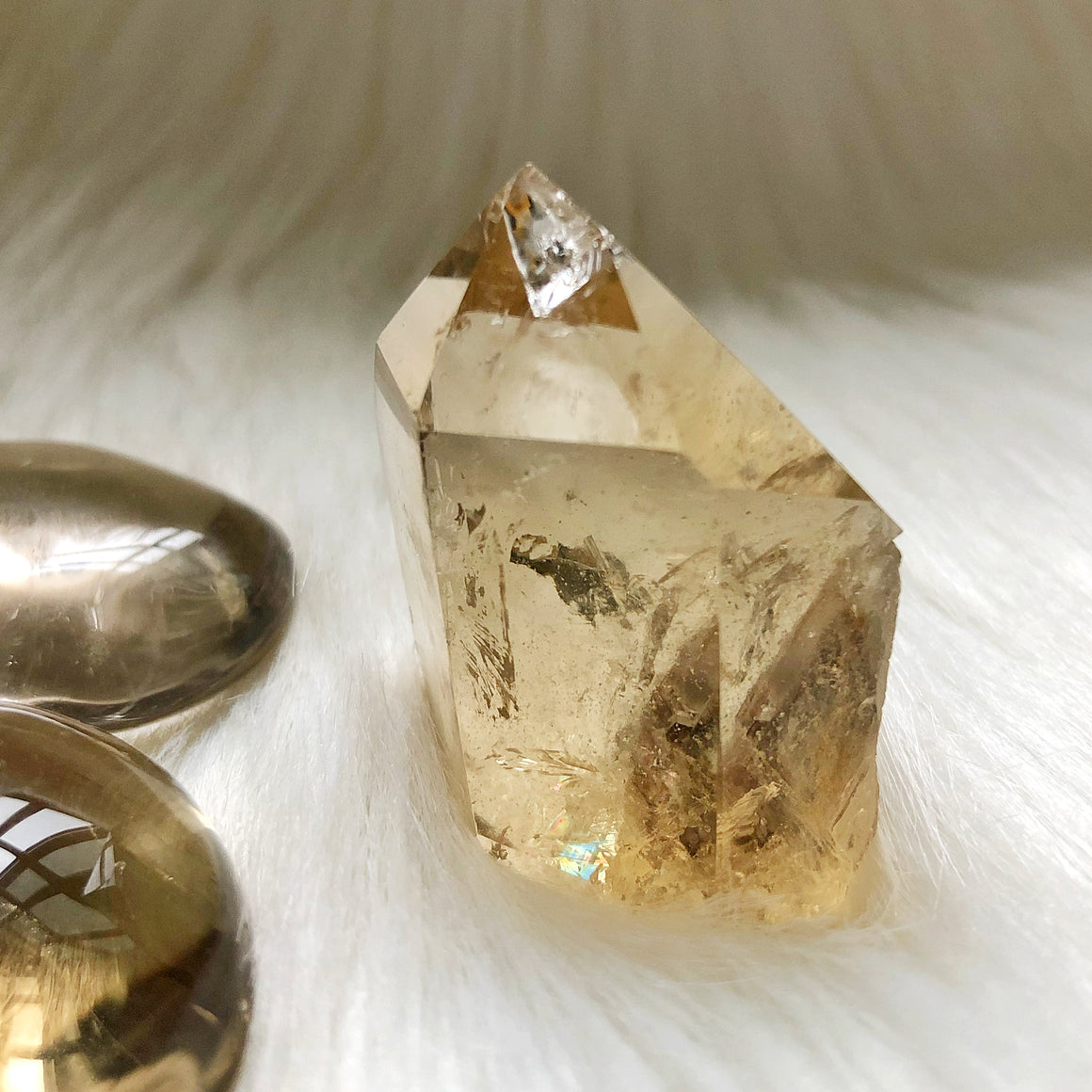 Natural Citrine Point #19