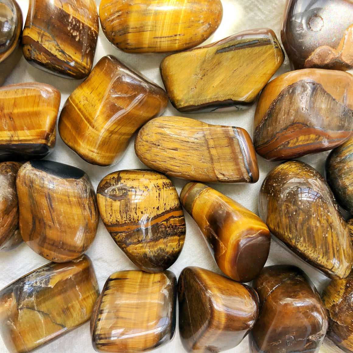 Golden Tiger Eye Tumbled Stones